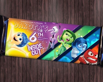 Inside Out #1 Printable Birthday Party Candy Wrapper Favor - Custom DIY