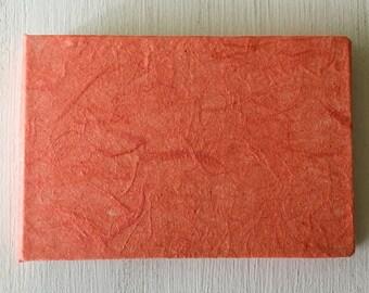 Mini Orange Handbound Journal