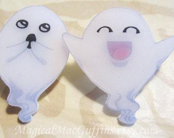Kowai Kawaii Scary Cute Adorable Ghost Shrink Plastic Pins