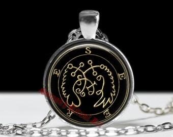 70 SEERE demon seal pendant, Goetia sigil necklace, Lemegeton jewelry, Lesser Key, occult pentacle, summoning demons ritual amulet 104.70