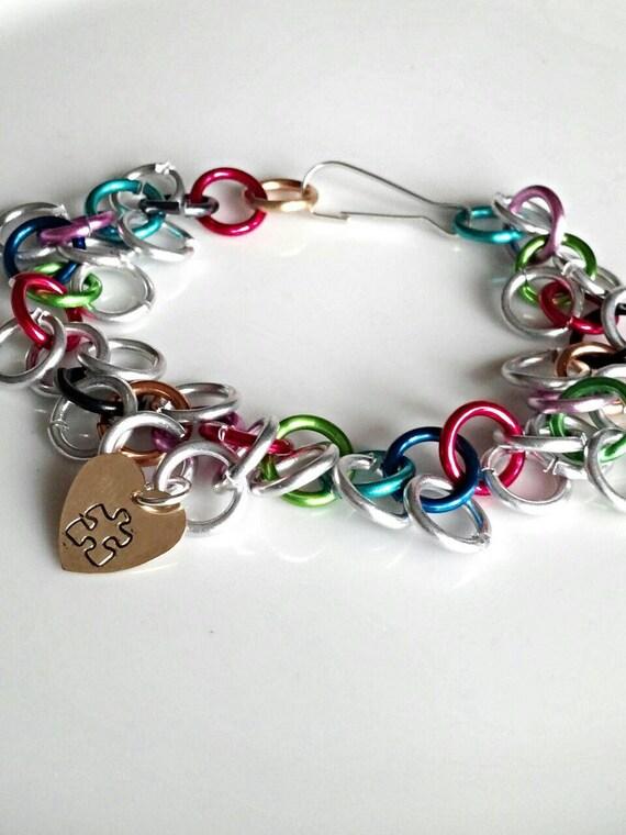 autism bracelet autism awareness jewelry by genevassky