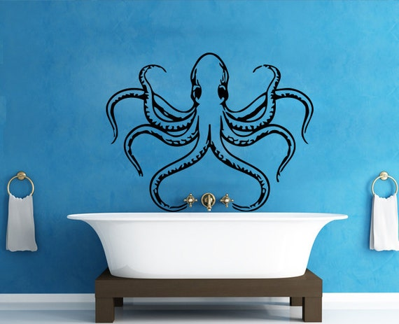 Wall Decals Octopus Decal Vinyl Sticker Bathroom by CozyDecal