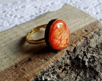 Wooden  ring, natural wood ring, unique gift, wood jewelry, eco friendly ring (0190)