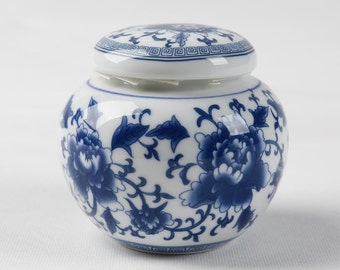 Dehua Porcelain Top Grade Chinese Blue and White Porcelain Canister/tea Canister/ceramic Gift