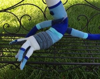 Large Blue Sock Creature