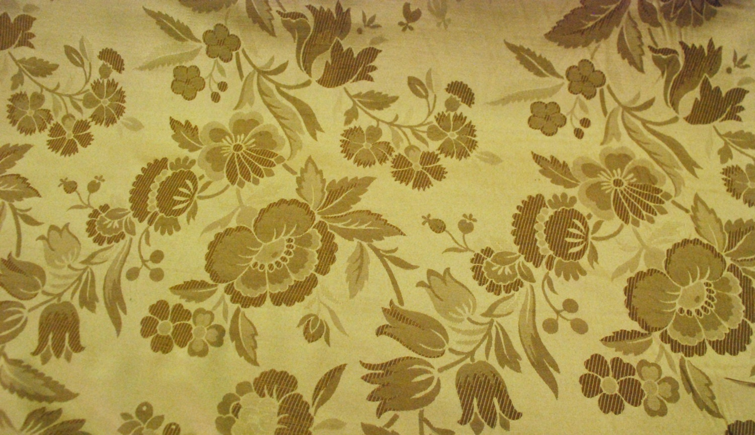 Gold Floral Upholstery and Home Decor Fabric by ShopMyFabrics