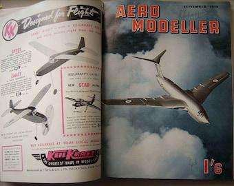 1956 12 x AERO MODELLER Magazines Bound Jan 1956 to Dec 1956 Model Aeroplanes Make Your Own Plane Models