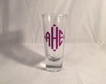 Personalized Shot Glass, Monogram Shot Glass, Bridal Party Gift, Shot Glass, Monogram Gift, Bachelorette Party, GNO, Bridesmaid Gift, Bride