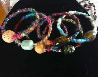 Colorful Bangles: Set of Six