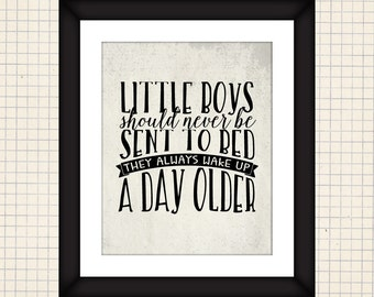 Little Boys Quote Printable