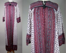 70s Indian Cotton Maxi/Caftan!