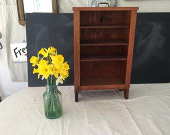 Vintage Handmade Drawer Shelf - Display - Primitive - Rustic - Cabinet - Wood Shelf - Storage