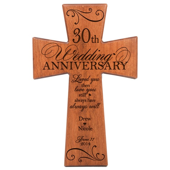 Gift Ideas For 30th Wedding Anniversary: Personalized 30th Anniversary Gift For By DaySpringMilestones