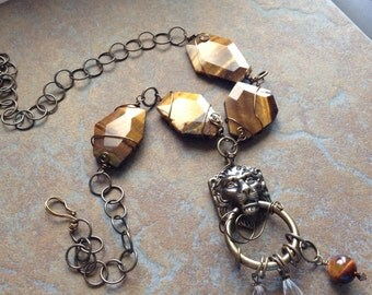Tigereye gemstone necklace