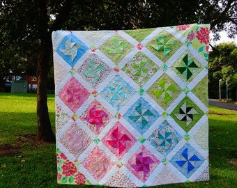 Handmade 1.2meter*1.2meter baby/girl's quilt--customised available with other color and size