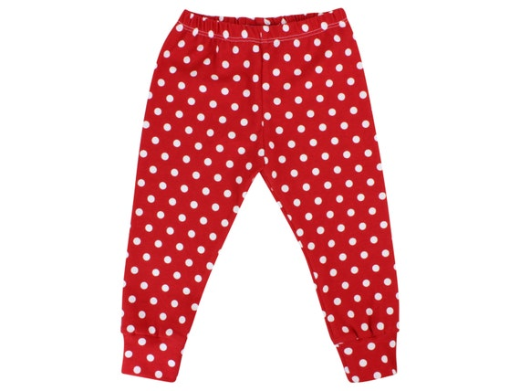 Red Polka Dot Baby Leggings Red and White Toddler Leggings Christmas Leggings Girl Leggings Polka Dot Leggings Polka Dot Baby Headband Gift