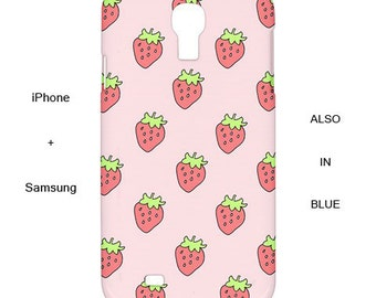 Strawberry iphone case,strawberry,samsung case,s5,pastel,iphone case,case,s4,iphone 6,5s,iphone cover,5c,fruit,5c,s5,iphone 6 plus,iphone 5s