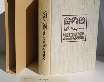 The Moon and Sixpence by W. Somerset Maugham - The Heritage Press 1969 - Vintage Book