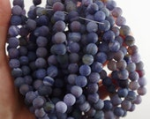 DRAGONS VEIN AGATE bead, 8mm purple, round bead, beading supplies, affordably priced, destash beads, jane possum bari,