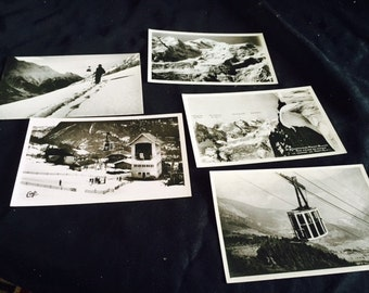 Vintage French skiing postcards