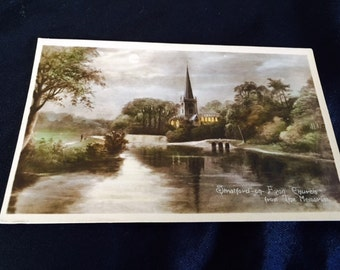 Vintage postcard Stratford on the Avon Church