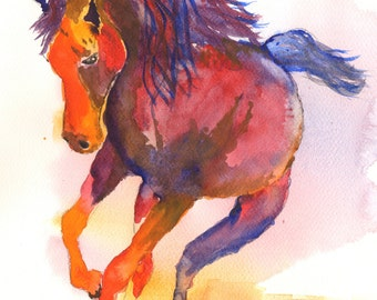 horse paintings gifts for horse lovers gifts for her unique gifts horses gifts for girls wall art valentines gift pictures of horses