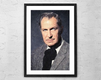 Vincent Price, Painting - Wall art Poster - Fine Art Print for Interior Decoration