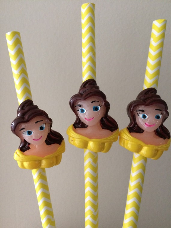 Beauty and the Beast Straws