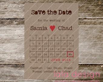 Printable  - Save the Date - Calendar