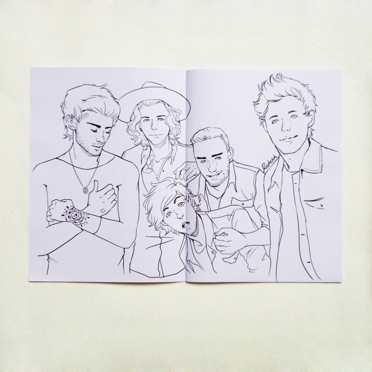 Rosketch's One Direction Adult Coloring Book