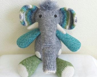 Otto the crocheted elephant