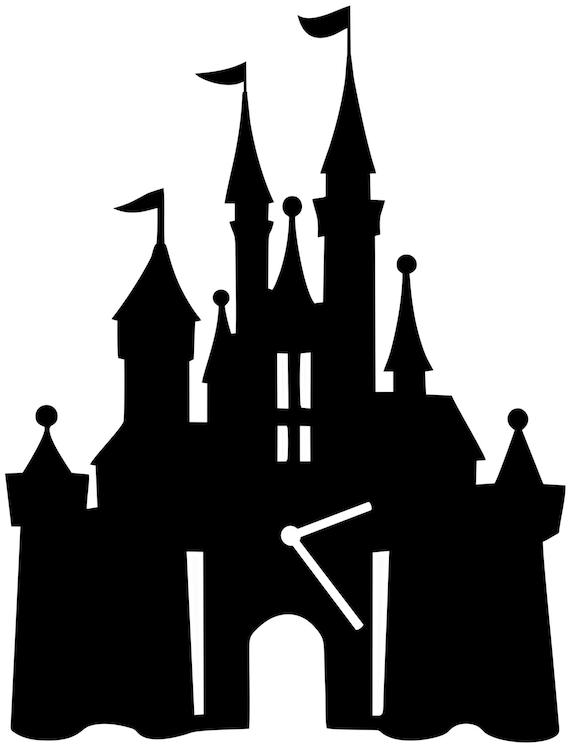 Cinderella Castle Silhouette Wall Clock Wall Clock