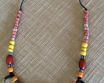 Colourful beaded necklace