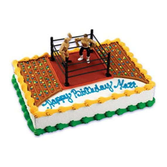 Cake Decorating Kit Matchbox : Wrestling Ring Cake Decorating Kit Decoration Party Supplies