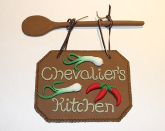 Polymer Clay Family Kitchen Sign, Wall or Door Decoration, Decor, Handmade