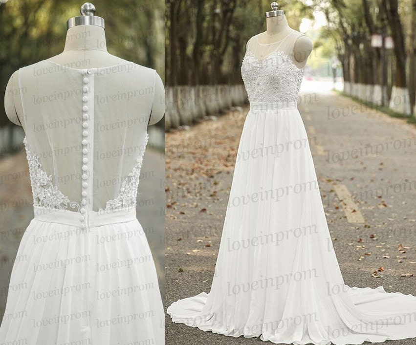 Vintage Cap Sleeve Wedding Dresshandmade White/ivory By