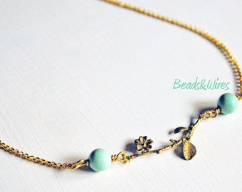 Romantic necklace Green