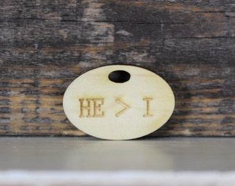 pendant, wood, necklace, keychain,Jesus,God,christian,inspirational,motivational,positive,gift