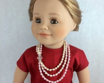 18 Inch Doll Necklace - Art Deco Doll Necklace. Historical Doll Jewelry - Historical Jewelry fits Maplelea and American Girl