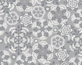 Vintage Noel Crochet Snowflake Gray, by Josephine Kimberling from blend fabrics, 1 yd