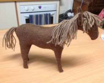 Brown Felt horse