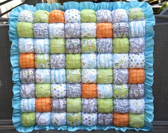 Backyard Baby Bubble Quilt  / Puff Quilt / Biscuit Quilt / Bubble Blanket