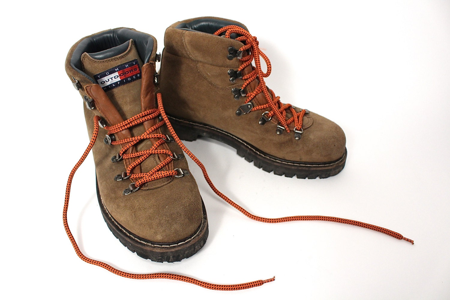 tommy hilfiger hiking boots 90s tommy hilfiger brown suede. Black Bedroom Furniture Sets. Home Design Ideas
