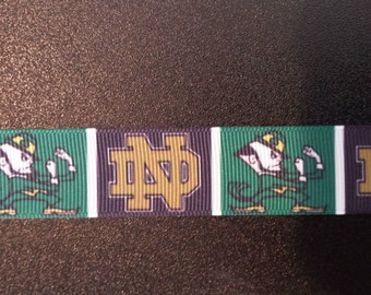 "Notre Dame Fighting Irish 7/8"" Inspired Grosgrain Ribbon"