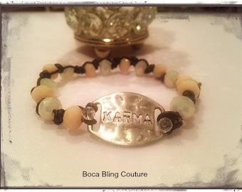 Custom Woven KARMA Bracelet