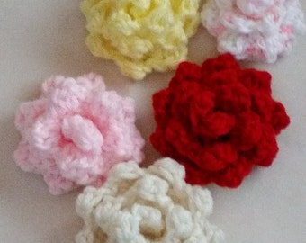 Crocheted Roses/ rose applique
