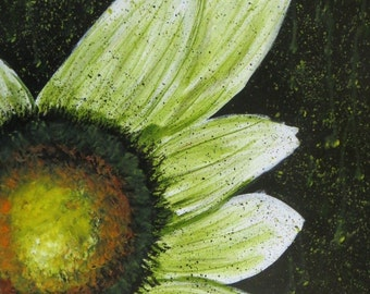 Daisy Painting Flower Painting 16 x 20 Acrylic on Stretched Canvas