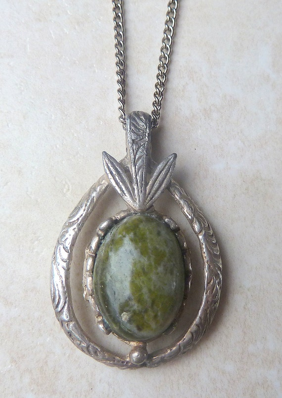 vintage miracle green connemara marble pendant and necklace