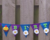 Reserved for Sarah. Felt bunting HAPPY BIRTHDAY banner