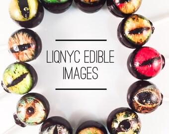 12 Creepy Eyeball Hard Candy Lollipops